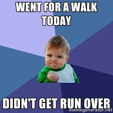 Went for a Walk Today Didn't get run over - Success Kid | Meme ... via Relatably.com
