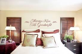 Always Kiss Me Goodnight Bedroom Wall Sticker Romantic Idea U201c  R
