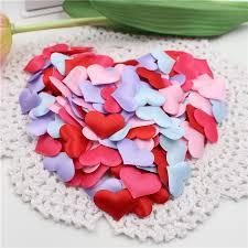 <b>100pcs</b> Wedding Decoration <b>Romantic Sponge</b> Satin Fabric <b>Heart</b> ...