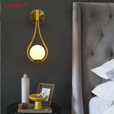 New <b>Nordic creative living</b> room metal wall lamp fashion modern ...
