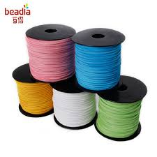 2019 <b>Promotion 3mm</b> 100yards/Roll <b>Mixed Color</b> Faux Suede Cord ...
