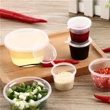 <b>100pcs Disposable</b> Clear 25ml 35ml <b>40ml 50ml</b> 100ml Food Sauce ...