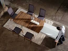 extendable dining table vitra:  extending rectangular wooden dining table