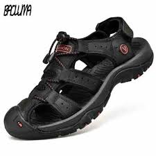 Classic <b>Men</b> Soft Sandals <b>Comfortable Men Summer</b> Shoes Leather ...