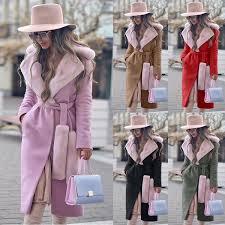 2019-2020 New Fashion Women's Lapel <b>Woolen Coat</b> Autumn ...