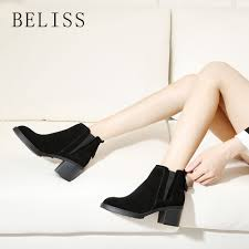 <b>BELISS</b> ladies ankle boots leather women slip on arrival chelsea ...