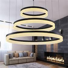 Circles <b>Rings Acrylic LED</b> Pendant Lights <b>Modern</b> Round <b>Ring LED</b> ...