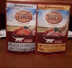 <b>Паучи Nature's Table</b> для взрослых кошек 85 г - купить в ЮниЗоо ...