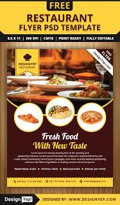 restaurant flyer psd template designyep restaurant flyer psd template