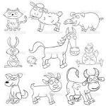 Раскраски с животными английский
