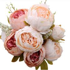 New Design Decorative <b>Artificial</b> Flower Blush <b>Silk Peony Flowers</b> ...