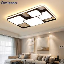 <b>Omicron Modern</b> White Black <b>LED Chandelier Lights</b> Iron Aluminum ...