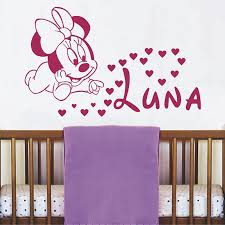 Minnie Mouse Hearts Vinyl <b>Wall Sticker</b> For Kids Room Decoration ...