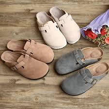 Genuine Leather Summer <b>Slippers</b> Female Couples Cork <b>Slippers</b> ...