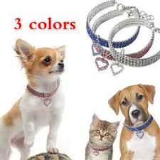 Cute Crystal Pet Collar Dog Accessories Pet Necklace Cat ... - Vova