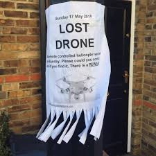 lost your drone put up a missing persons flyer of course dji lol a sign of things to come