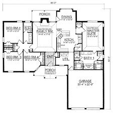 Split Bedroom House Plan   RD   st Floor Master Suite  Butler    Floor Plan