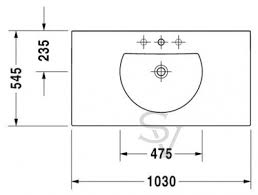 <b>DURAVIT DARLING NEW</b> 049910 0000 Умывальник 1030х545 мм ...