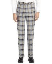 Men's <b>Black Fleece</b> Plaid Belt Loop Trouser