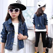 Girls Jacket <b>Baby</b> Girls Cotton Denim Jacket <b>Children Spring Kids</b> ...