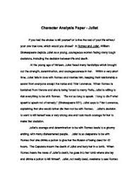 romeo and juliet character analysis   gcse english   marked by    page  zoom in