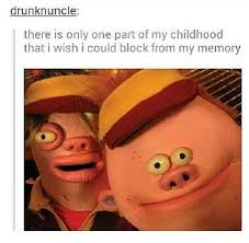 "Childhood Nickelodeon show, ""Mr. Meaty"". *shutter* 