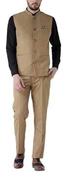 Men's Slim <b>Fit</b> Nehru Jacket and Trouser (<b>2pcs Set</b>) - 7 Colors ...