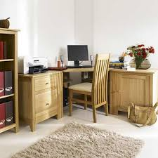 The Natural Pine Finish Corner Desk