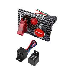 12 V Racing Car Engine Start Starter Push Button <b>Ignition switch</b> ...