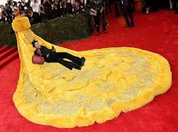 Rihanna's Canary-Yellow Met Gala Gown Inspires Sizzling Memes ... via Relatably.com