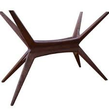 walnut cherry dining: limited design series walnut or cherry dining table base mid century