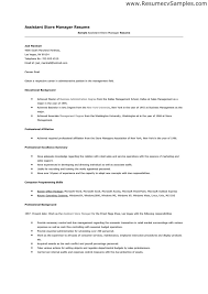 assistant store manager resume example retail sample resumes in ... Sample Store Manager Resume Retail And Operations Manager Free Resume Templates Retail Manager Resume Examples Fashion Retail Store Manager Resume Sample