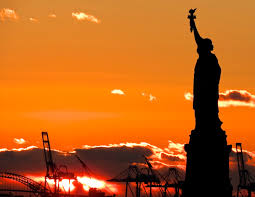 photo essay sailing from new york city  how do you measure the statue of liberty at sunset