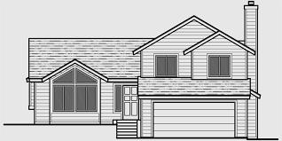 Split Level House Plans  Bedroom House Plans  Car Garage HousHouse front drawing elevation view for Split level house plans  bedroom house plans