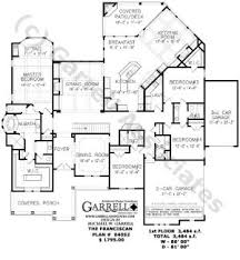 Single Story Open Floor Plans       Plan  Single Level One Story    Franciscan House Plan     Floor Plan  Ranch Style House Plans  Traditional Style