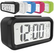 Snooze <b>Electronic LED Digital</b> Alarm Clock Backlight Time Calendar ...