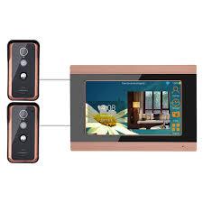 SY709GFKA21 <b>7 Inch Wired Wifi</b> Video Doorbell Gold US Plug