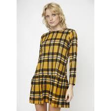 <b>Платье расклешенное короткое</b> в клетку с длинными рукавами в ...