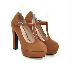 <b>MVP BOY</b> Vogue Retro Thick High Heels Round Toe <b>Women</b> ...