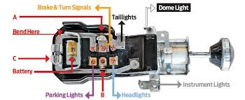 headlight switch wiring diagram headlight image 1956 chevy bel air dash and rear lights hot rod network on headlight switch wiring diagram