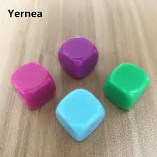 Yernea 20 Pcs/<b>Lot 16mm Blank Dice</b> D6 Acrylic White Rounded ...