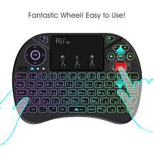 Beste Koop Originele <b>Rii X8</b> 2.4 Ghz Air Mouse I8x RGB 7 Kleuren ...