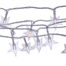 14 ft. <b>Star</b> LED <b>Battery</b>-Operated <b>String Lights</b>