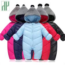 HH <b>Baby Winter Clothes Girl</b> Romper Warm jumpsuit baby overalls ...