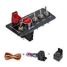 <b>12V</b> LED <b>Ignition Switch Panel</b> for Racing Car Engine Start Push ...