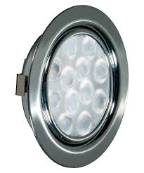 <b>REPLIS</b>-<b>1 LED светильник врезной</b> круглый, хром, 12V ...