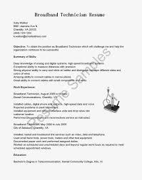 samples broadband telecom resume examples