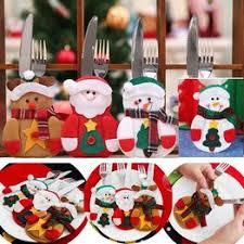 Christmas Decoration Tableware Fork Knife Holder Bag ... - Vova