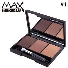Maxdona <b>3 Color Eyebrow Powder</b> Brush Mirror Box Brow   Shopee ...