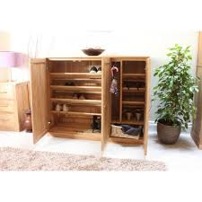 mobel oak shoe cupboard extra wide baumhaus mobel solid oak extra